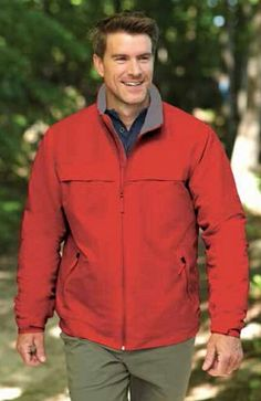 Stylish Men's Fleece Jacket Barricade Wind Resistant Jacket with Fleece Liner: 100% Polyester shell with water-repellant finish, microfleece liner. Zippered side pockets. Also available in a Ladies Version! Visit www.whitedogpromos.com/products/TRAED-JNSSY for more information!