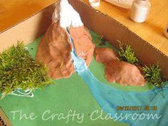 Landforms diorama