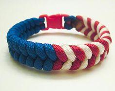 U.S.A. Paracord Bracelet