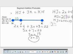 segment addition postulate youtube - Segment Addition Postulate Worksheet