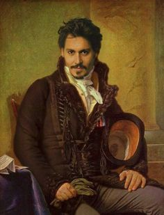 Renaissance Portraits of Famous Celebrities - Johnny Depp.@Traci Puk Puk Beaty