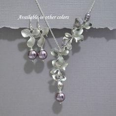 Light Purple Bridal Jewelry Set Orchid by alexandreasjewels