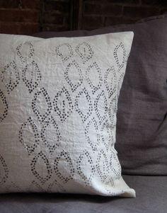hemp printed pillow