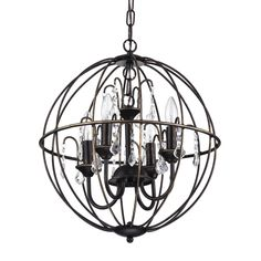 Edvivi Dover 4-Light Crystal Chandelier & Reviews | Birch Lane