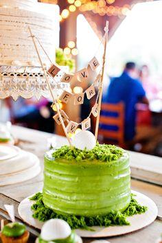 Single-Tier Green Groom's Cake