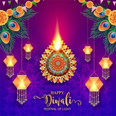 Illustration about Happy Diwali festival card with gold diya patterned and crystals on paper color Background. Illustration of exquisite, cultural, ethnicity - 125627063 Diwali Cards, Diwali Diya, Diwali Greetings, Diwali Wishes, Diwali Vector, Happy Diwali Pictures, Indian Wall Art, Happy Diwali Wallpapers, Diwali Festival Of Lights