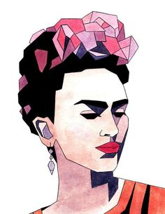 cool, drawing, frida kahlo, lines, minimalist