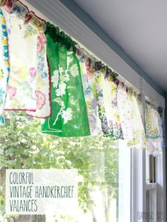 Vintage Hankie DIY Ideas - What to Do With Vintage Handkerchiefs - Good…