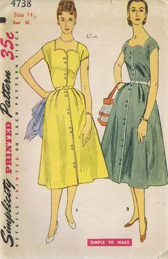 Everyday dresses, or could spruce them up for church too.