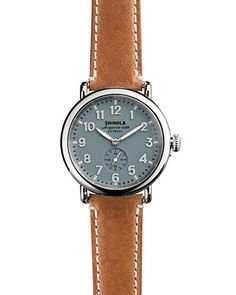 Shinola The Runwell Brown Strap Watch, 41mm