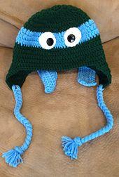 Ninja Turtle Beanie FREE Ravelry  http://www.ravelry.com/patterns/library/childs-blue-ninja-turtle-crochet-pattern