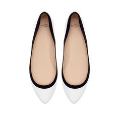 TWO - TONE BALLERINA FLATS - Shoes - TRF | ZARA Norway