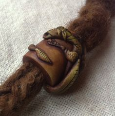 Dragon dreadlock bead by feythcrafts on Etsy, $20.00 :: Shop DreadStop.Com for Leather Dreadlock Cuffs, Ties & Dread Beads #dreadstop