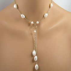 white baroque cultured pearl gold necklace