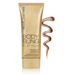 Scott Barnes Body Bling Moisturizing Shimmering Body Lotion - Platinum - DermStore