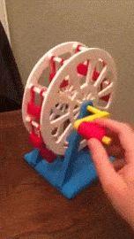 High School Student 3D Prints Incredible Hand Cranked Ferris Wheel http://3dprint.com/61820/3d-printed-ferris-wheel/