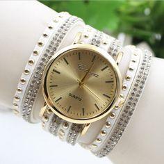 Korean Style Rivet Strap Casual Watch