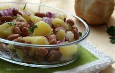 Insalata di patate e borlotti | #vegan #vegetarian