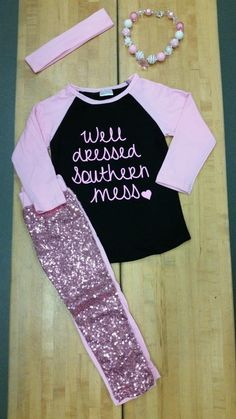 36d7213d8e Pink   Black Well Dressed Southern Mess Set – Snotty Tots Cute Baby Girl