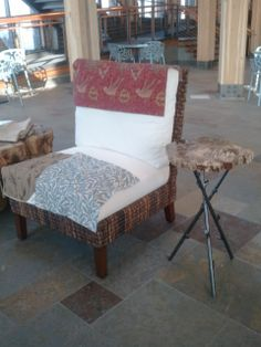 08 Recommended choice of rattan furniture with 3 choices of fabric from Stevens Design - recommend either red or blue fabric