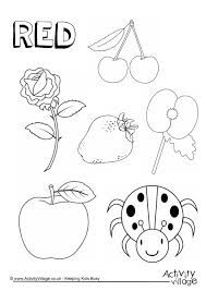 Blue Things Colouring Page Children Toddler Pinterest