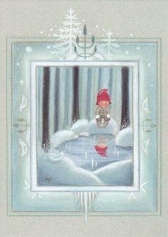 Kaarina Toivanen (my collection) - pioni pionia - Picasa Web Albums Christmas Clipart, Christmas Crafts, Christmas Decorations, My Collection, Xmas Cards, Finland, Illustration, Scandinavian, Glass Art