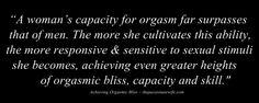 achieving orgasmic bliss