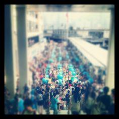 A hundred Doraemon figures. Even bigger hoard of fans. We all love our classics :D #nostalgic - @chakyz | Webstagram