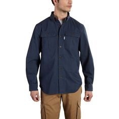 Long Sleeve Solid Work Shirt - The Brown Duck