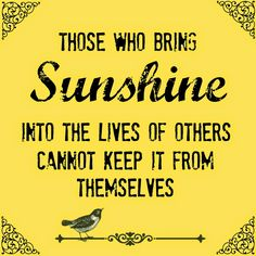 Encouragement by Color: Send a box of sunshine and you'll find the SON shinning on you. Great article and ideas.