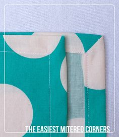 Easiest mitered corner tutorial