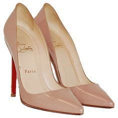 Christian Louboutin Nude Patent Pigalle Pumps ❤ liked on Polyvore featuring shoes, pumps, heels, sapatos, christian louboutin, heel pump, nude pumps, patent leather pumps, nude patent leather pumps and nude patent shoes
