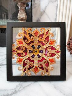 Glass Painting Patterns, Glass Painting Designs, Paint Designs, Modern Stained Glass, Stained Glass Designs, Stained Glass Art, Mosaic Art, Mosaic Glass, Transparent Glass Paint
