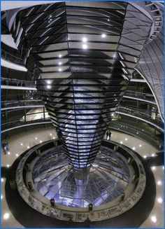 Mirrored cupola, Reichstag (Parliament building), Berlin, Germany