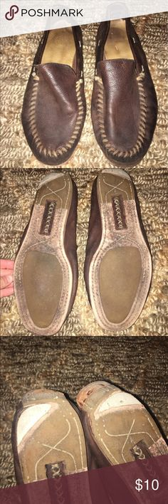 Men's brown frye leather loafers Worn a good amount, see pictures for flaws. Message with questions! Size 12. #frye #mens #brown #loafers Frye Shoes Loafers & Slip-Ons