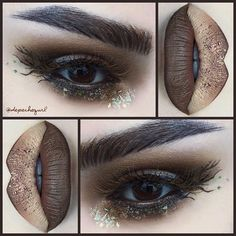 Beachwood (Earth Element Look 2) #Woodsy #Rustic @morphebrushes Jacklyn Hill Favorites Palette and Morphe brushes used. Inglot Pigment #22. Nail Art foil. Sybil Colour Pencil by @occmakeup and Russet Feather accent lashes by @perfecteyelashes .. @nyxcosmetics Brown Liquid Liner and Wonder Pencils.