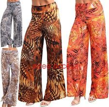 New Sexy Women Plus Size High Waisted Flare Wide Leg Palazzo Pants Boho 1X,2X,3X