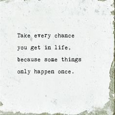 Take Every Chance Marble Coaster