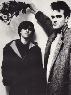 Johnny Marr and Morrissey of The Smiths (1984) ― photo by Martin Hannson.