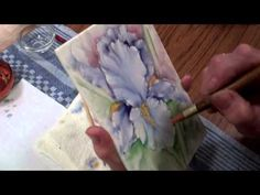 ▶ Iris Porcelain Painting - Stage 14 (First Fire) by Chris Ryder, Bala - YouTube