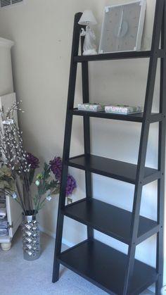 Leaning Shelves From Garden Ridge, Clock From Ikea