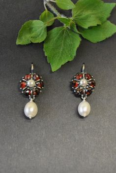 Pearl Earrings, Pearls, Jewelry, Ear Jewelry, Dirndl, Handmade, Silver, Pearl Studs, Jewels