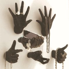 I love these hand wall sculptures - but why no middle finger???