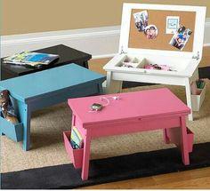 Kitchen Cabinet Into A Child S Desk Skyler Kid Desk