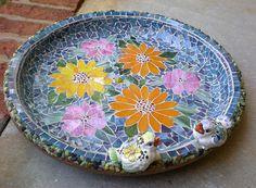 Birdbath Stained Glass Mosaic   Flickr - Photo Sharing!