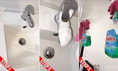 Your step by step guide to cleaning your bathroom like a professional | Daily Mail Online Cleaning Checklist Printable, Step Guide, Mail Online, Daily Mail, Bathroom, Washroom, Full Bath, Bath, Bathrooms