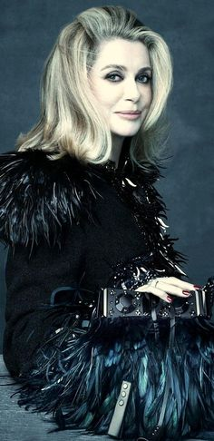 Catherine Deneuve in Louis Vuitton S/S 2014 Fashion Campaign, shot by Steven Meisel