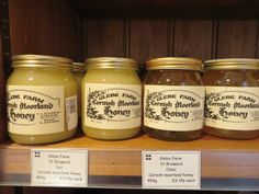 Cornwall (Mevagissey)... Lobb's Farm Shop... Glebe Farms Cornish Moorlands Dark & Light Honey...