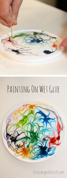 Painting on Wet Glue