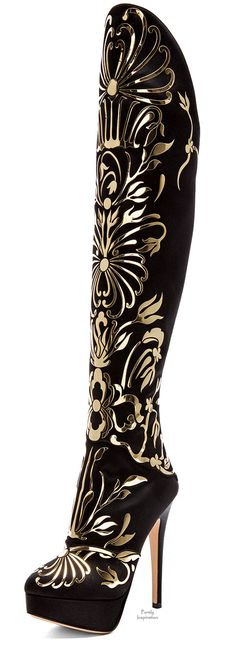 With the right outfit...one time...for one spectacular event... maybe......Charlotte Olympia, Prosperity silk satin boots